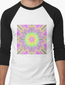Pale tropical sunburst Men's Baseball ¾ T-Shirt