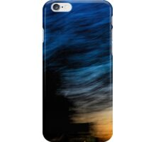 Motion blurred trees and landscape abstract at sunset  iPhone Case/Skin