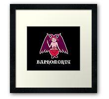 Baphomorty STICKER Framed Print