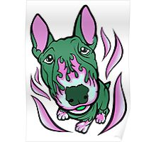 Hot Rod Thistle Bull Terrier Poster