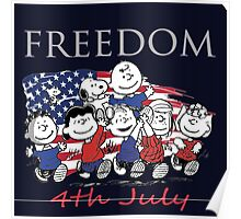 Peanut,Celebrate Independence Day Poster