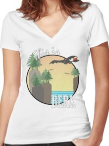 """This Is Berk"" Women's Fitted V-Neck T-Shirt"
