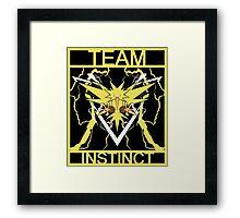 Team Instinct Vector Framed Print