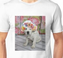 English Labrador Puppy with Bonnet Unisex T-Shirt