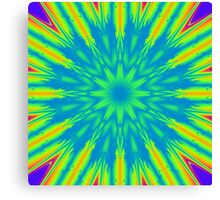 Psychedelic rainbow burst Canvas Print