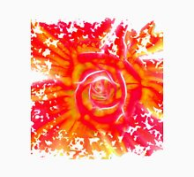 Shattering rose fractal in yellow and red Unisex T-Shirt