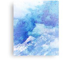 Snowy Mountain #redbubble #lifestyle Canvas Print