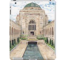 Australian War Memorial watercolour painting by Paris Lomé iPad Case/Skin