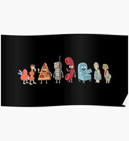 Rick and Morty mini-characters Poster