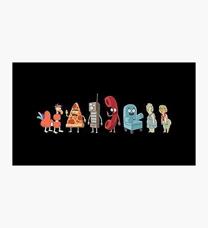 Rick and Morty mini-characters Photographic Print