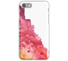 Watercolor Map of Yukon, Canada in Orange, Red and Purple - Giclee Print  iPhone Case/Skin