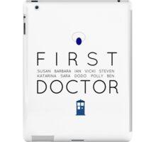 First Doctor Minimalist iPad Case/Skin