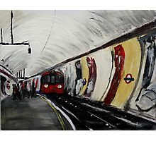 London Underground Wood Green Urban Cityscape Contemporary Acrylic Painting Photographic Print