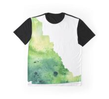 Watercolor Map of Yukon, Canada in Green - Giclee Print My Own Watercolor Painting Graphic T-Shirt