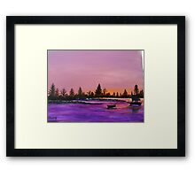 Dusk at the Lake Framed Print