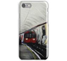 London Underground Wood Green Urban Cityscape Contemporary Acrylic Painting iPhone Case/Skin