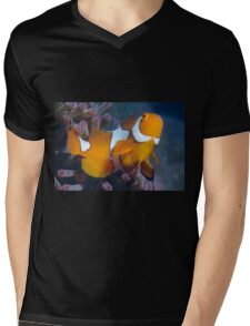 Clown Anemonefish Mens V-Neck T-Shirt