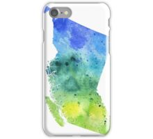 Watercolor Map of British Columbia, Canada in Blue and Green - Giclee Print  iPhone Case/Skin