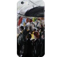 London Underground Urban Cityscape Subway Station Contemporary Acrylic Painting iPhone Case/Skin