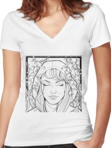 Mindful Nature Women's Fitted V-Neck T-Shirt
