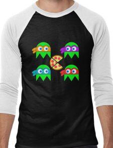 Teenage Ninja Ghosts Men's Baseball ¾ T-Shirt