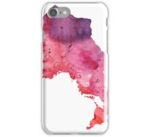 Watercolor Map of Ontario, Canada in Orange, Red and Purple - Giclee Print  iPhone Case/Skin