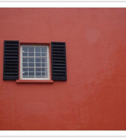 red wall Sticker