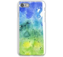 Watercolor Map of Saskatchewan, Canada in Blue and Green - Giclee Print iPhone Case/Skin
