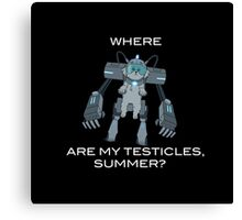 Where are My Testicles, Summer? Canvas Print