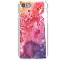 Watercolor Map of Saskatchewan, Canada in Orange, Red and Purple - Giclee Print  iPhone Case/Skin