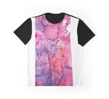 Watercolor Map of Saskatchewan, Canada in Pink and Purple - Giclee Print Graphic T-Shirt