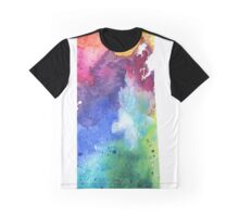 Watercolor Map of Saskatchewan, Canada in Rainbow Colors - Giclee Print  Graphic T-Shirt