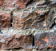 Old brick wall background  Sticker