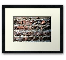 Old brick wall background  Framed Print