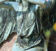 weeping angel at the Monumental Cemetery of Staglieno (Cimitero monumentale di Staglieno), Genoa, Italy Sticker