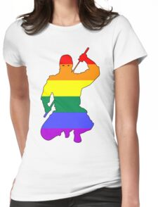 Ninja Queer 3 Womens Fitted T-Shirt