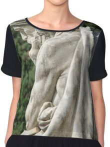 Statue of a young grieving man at the Monumental Cemetery of Staglieno (Cimitero monumentale di Staglieno), Genoa, Italy Chiffon Top