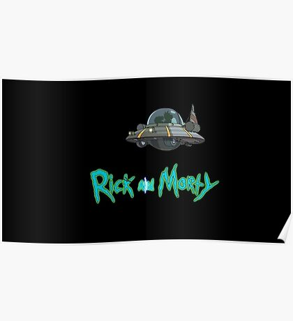 Rick and Morty spaceship Poster