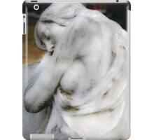 statue of grief and consolation at the Monumental Cemetery of Staglieno  iPad Case/Skin