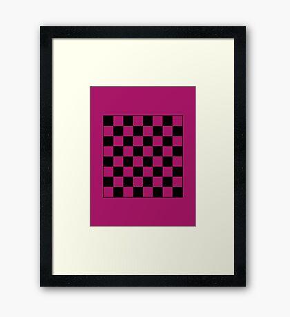 Pink Checkerboard Tote Bag Framed Print