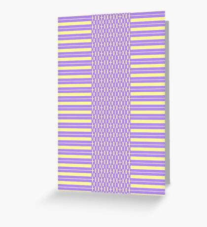 Thick And Thin Lines Greeting Card