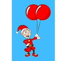 Ollie's Big Red Balloons! Photographic Print