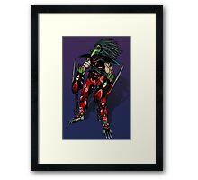 Cyborg assassin Framed Print