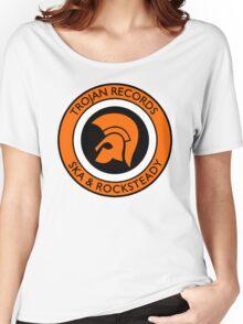 "TROJAN RECORDS SKA ROCKSTEADY "" ORANGE "" Women's Relaxed Fit T-Shirt"