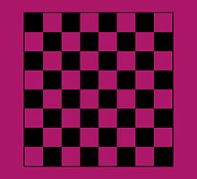 Pink Checkerboard Tote Bag by Haley Marshall