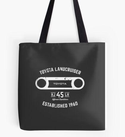 Toyota 40 Series Landcruiser HJ45 Round Bezel Est. 1960 Tote Bag