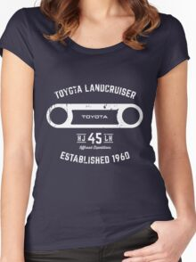 Toyota 40 Series Landcruiser HJ45 Round Bezel Est. 1960 Women's Fitted Scoop T-Shirt