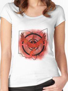 Pokemon Go Team Valor Ohio Women's Fitted Scoop T-Shirt