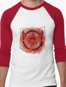 Pokemon Go Team Valor Ohio Men's Baseball ¾ T-Shirt
