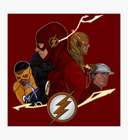 Flash Season 1-3 Photographic Print